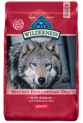Blue Buffalo Wilderness Grain Free Salmon Recipe Dry Dog Food