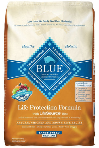 Blue Buffalo Life Protection Large Breed Senior Chicken and Brown Rice Recipe Dry Dog Food
