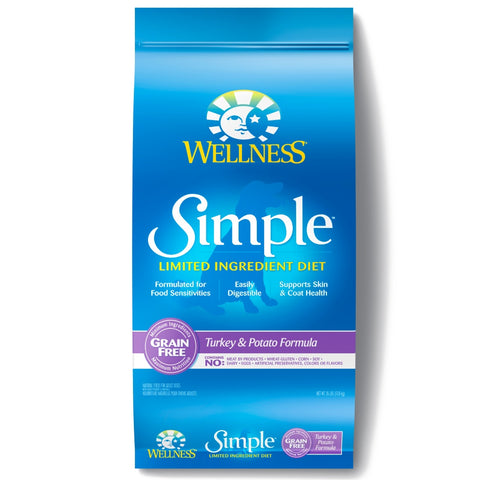 Wellness Simple Grain Free Natural Limited Ingredient Diet Diet Turkey and Potato Recipe Dry Dog Food