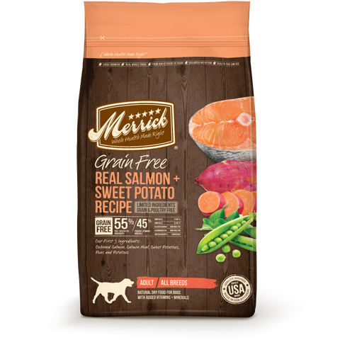 Merrick Grain Free Real Salmon and Sweet Potato Recipe Dry Dog Food