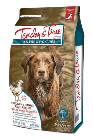 Tender & True Antibiotic-Free Chicken and Brown Rice Recipe Dry Dog Food