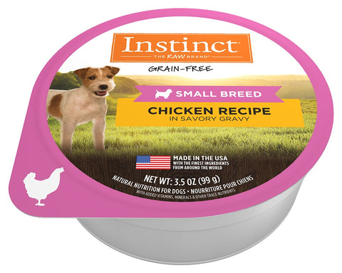 Nature's Variety Instinct Grain Free Small Breed Chicken Recipe Wet Dog Food Cups