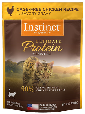 Nature's Variety Instinct Ultimate Protein Grain Free Cage Free Chicken Recipe Wet Cat Food Topper Pouch