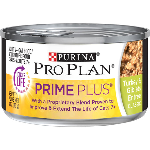 Purina Pro Plan Prime Plus Adult 7+ Turkey and Giblets Canned Cat Food