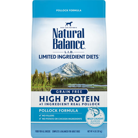 Natural Balance L.I.D. Limited Ingredient Diets Grain Free High Protein Pollock Formula Dry Dog Food