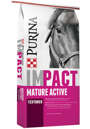 Purina® Impact® Mature Active Textured Horse Feed 10-10