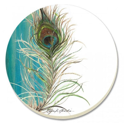 Peacock Eye Stone Coaster Set