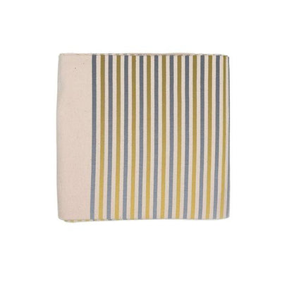 Silver and Gold Striped Tablecloth Give Simple