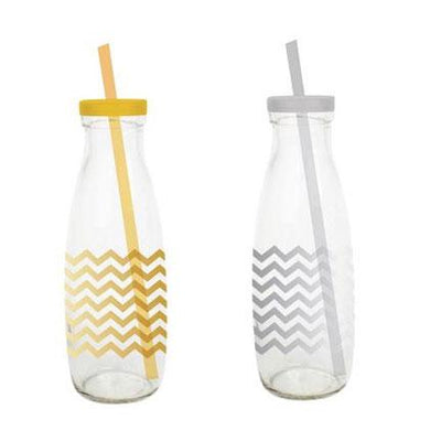 Chevron Sippy Milk Bottles