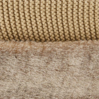 Infinity Scarf Give Simple Light Brown