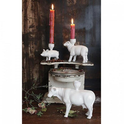 Farmhouse Candle Holder - Cow Creative Coop