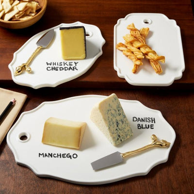 Cheese Plate with Erasable Pencil Two's Company
