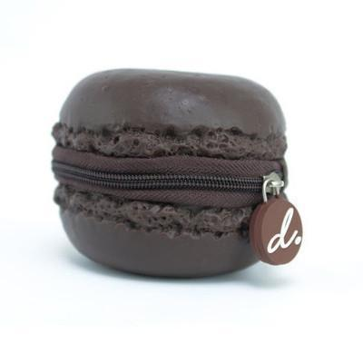 Scented Macaron Coin Purse - Chocolate Sarut Group Chocolate