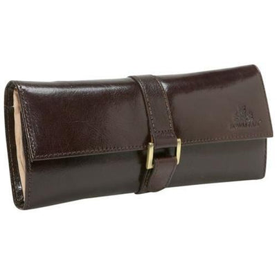 Travel Jewelry Roll Rowallan of Scotland Brown