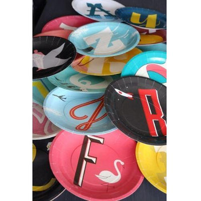 Alphabet Paper Plates (Set of 26)