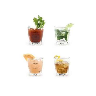 Favorite Cocktails Glasses (Set of 4)