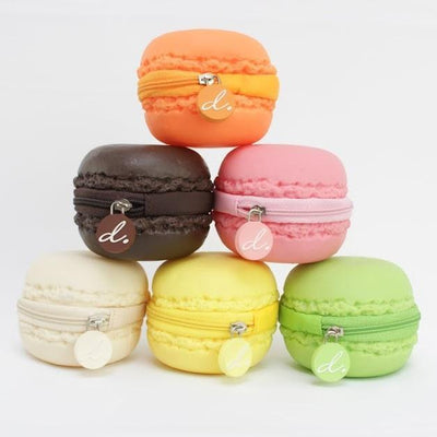 Scented Macaron Coin Purse - Chocolate