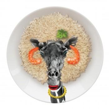 Giraffe Party Animal Plate Just Mustard