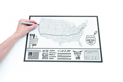 Travel Scratch Map of America Luckies UK