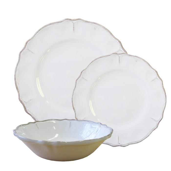 Antique White Rustica 11  Dinner Plate  sc 1 st  Give Simple : antique dinner plate - pezcame.com