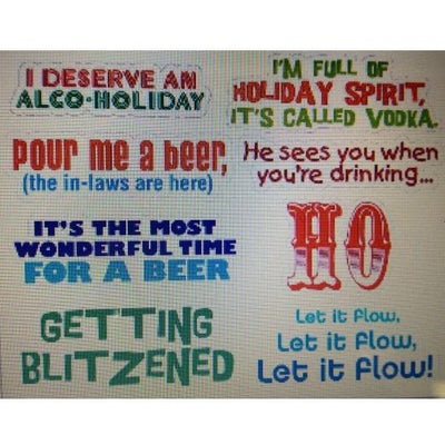 Holiday Drink Decals