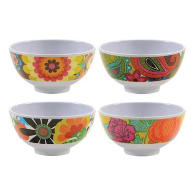 Floral Bowl Set (Set of 4)