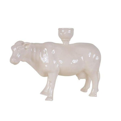 Farmhouse Candle Holder - Cow Creative Coop Cow