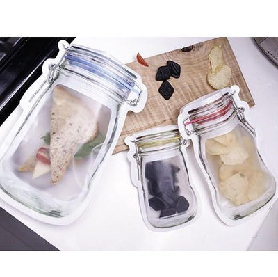 Reusable Mason Jar Storage Bag Set