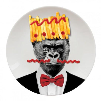 Gorilla Party Animal Plate Just Mustard