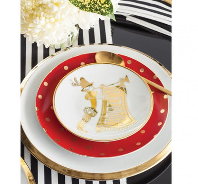 Jolly Holly Appetizer Plates (Set of 4)