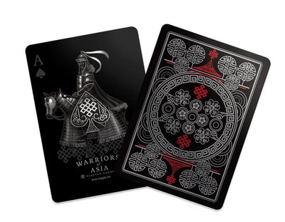 Warriors of Asia Waterproof Playing Cards Give Simple