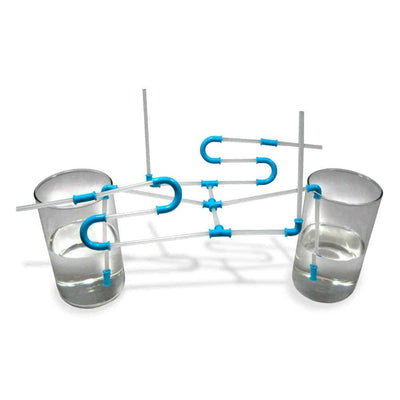 Build and Drink Straw Set nuop Blue
