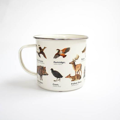 Wild Animals Enamel Mug Give Simple