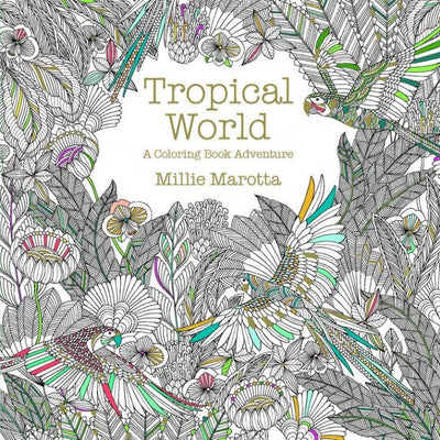 Tropical World Grown Up Coloring Book Give Simple
