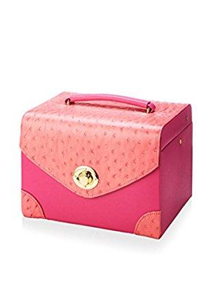 Ostrich Jewelry Carrying Case - Pink
