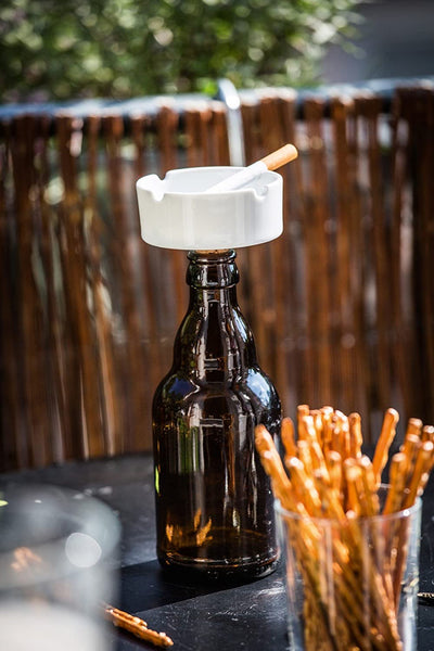 Wine Stopper Ashtray Give Simple