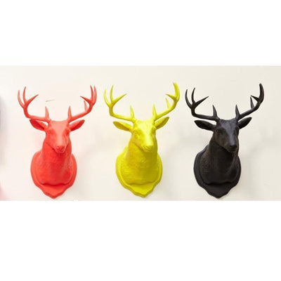 Taxidermy Deer Magnet and Hook - Neon Yellow