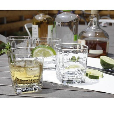 Favorite Cocktails Glasses (Set of 4) Give Simple