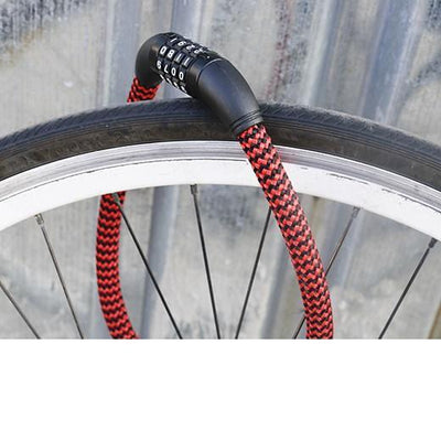 Braided Bike Lock Give Simple
