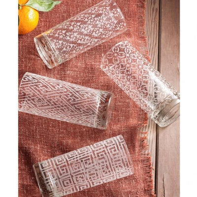 Etched Cocktail Glasses (Set of 4)