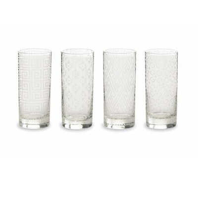 Etched Cocktail Glasses (Set of 4) Rosanna