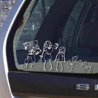 Zombie Family Car Stickers Gamago