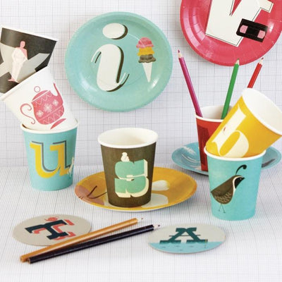 Alphabet  Paper Cups (Set of 26)