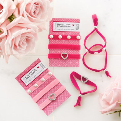 Sweetheart Hair Ties (Set of 3) Two's Company