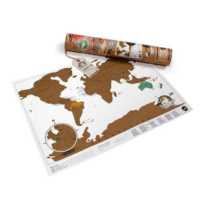 Travel Scratch Map of the World Luckies UK