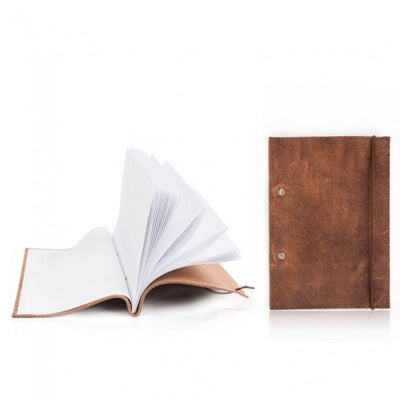 Reusable Leather Notebook Give Simple