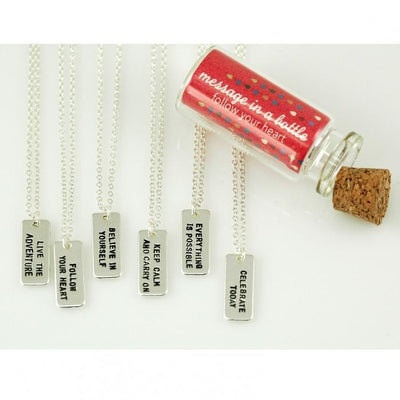 Keep Calm and Carry On Inspirational Necklace