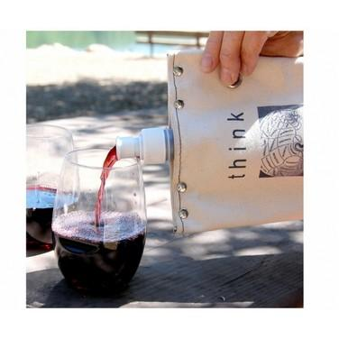 Half Full Half Empty Wine Tote Give Simple