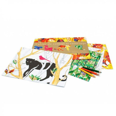 Magical Animals Coloring and Collage Art Activity Book