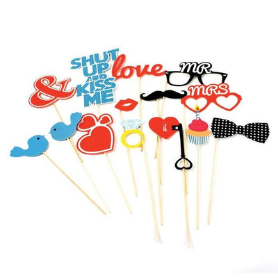 All You Need is Love Photo Props (Set of 15)